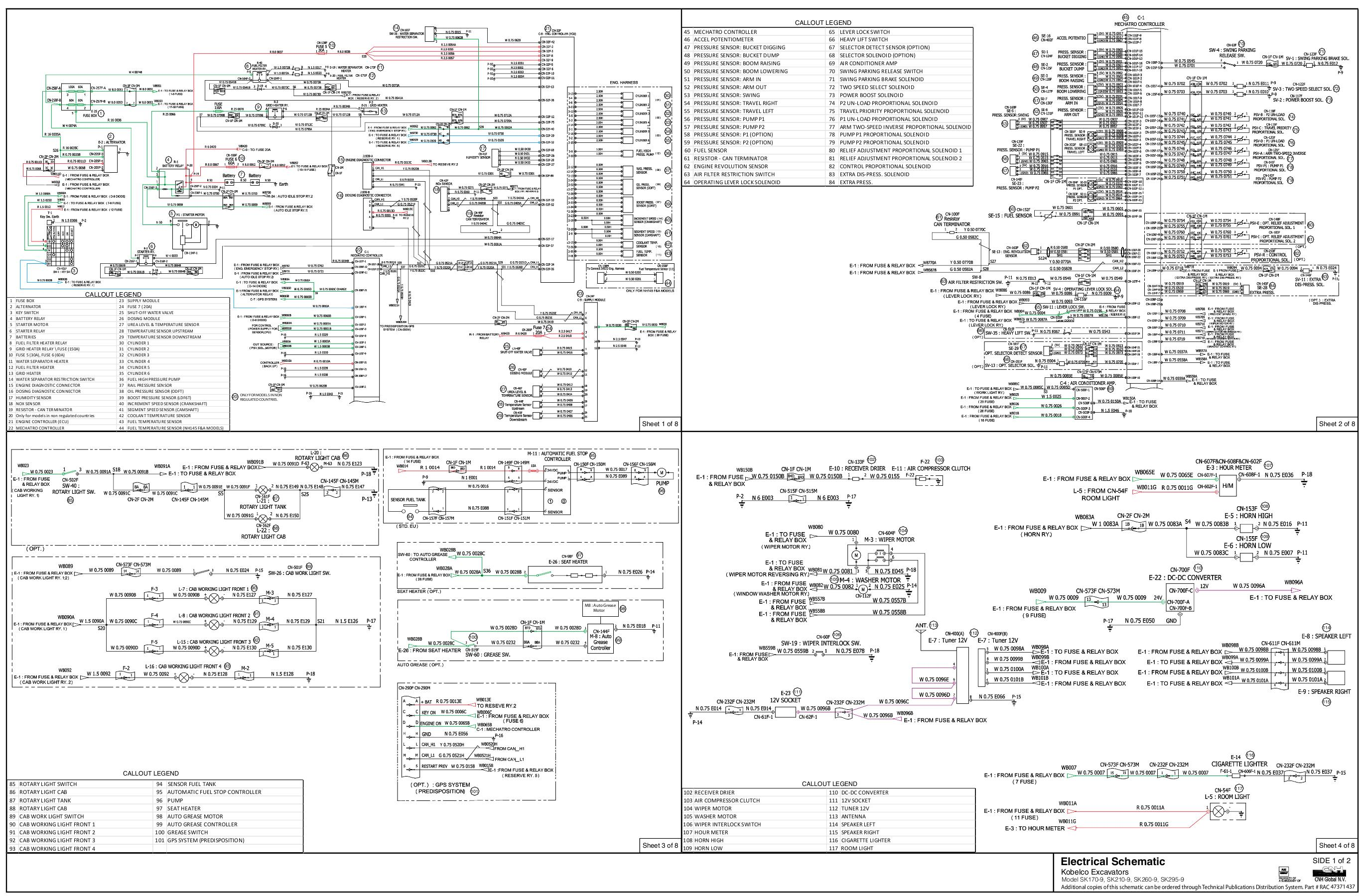 Kobelco English Schematics Sk210 Wiring Diagram