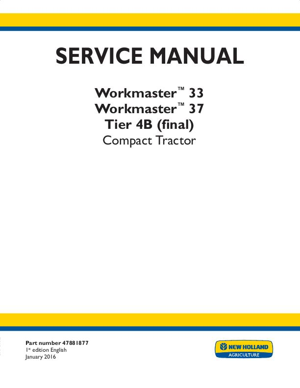 Details about NEW HOLLAND WORKMASTER 33, 37 TIER 4B (FINAL) TRACTOR on