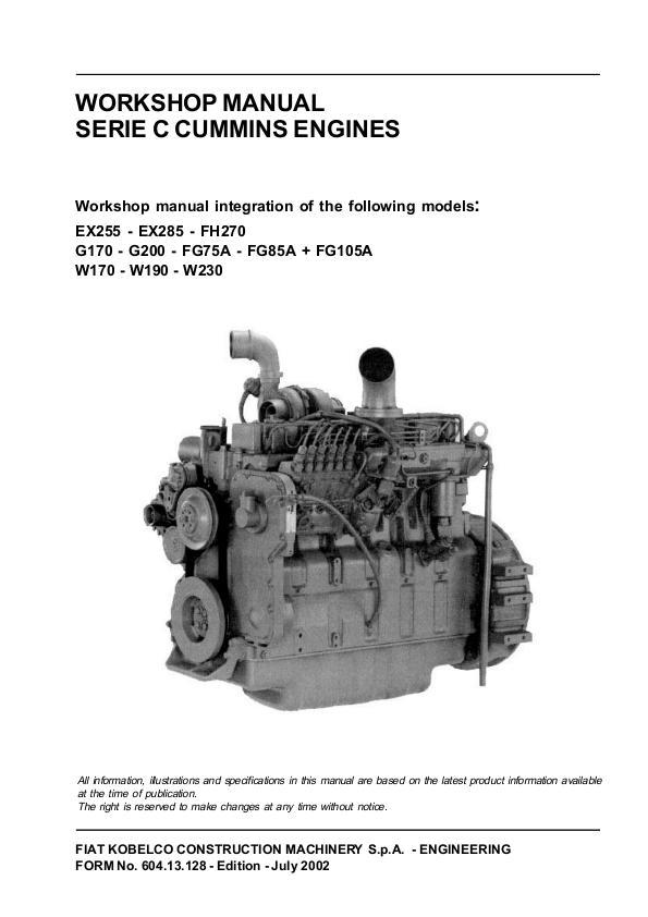 fiat kobelco w190 evolution wheel loader workshop service repair manual