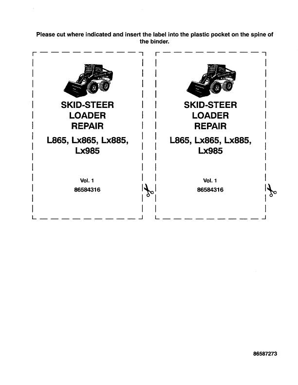 NEW HOLLAND L865 LX865 LX885 LX985 COMPLETE SERVICE MANUAL | eBay on