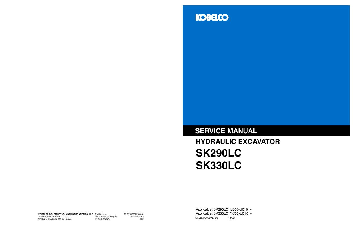 Part Number # 3517-457 M1 00na 965 Backhoe Workshop Repair Service Manual KOBELCO TLK 750 860 865